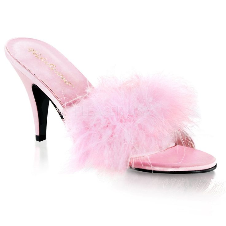 Pleaser Pink Label Amour Slippers - The Atomic Boutique