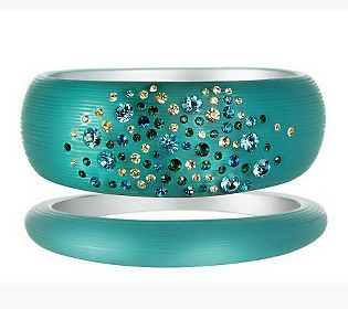 Pin to Win #SusanGraver Sweepstakes! {Acrylic Bangles with Crystal Accents} Enter here: http://sweeps.pinfluencer.com/QVC