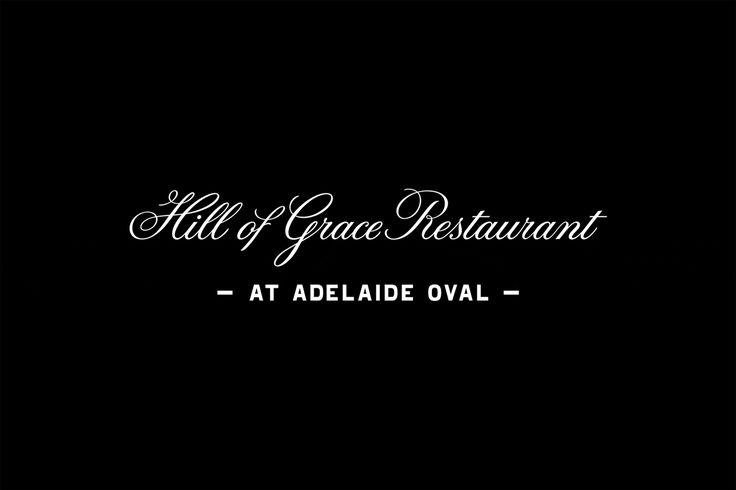Logotype designed by Band for Hill Of Grace Restaurant at Adelaide Oval