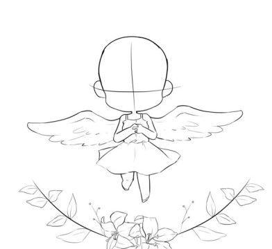 Chibi mit Flügeln