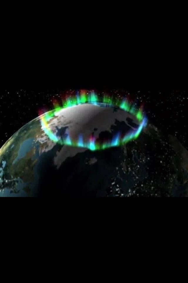 Aurora borealis from space. Alaska's aurora is just part of the auroral ring pictured here from space. #aurora #alaska #Alaska aurora