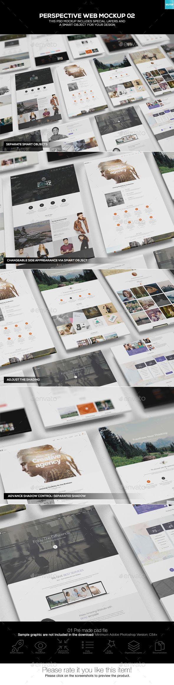 Perspective Web #Mockup 02 - #Website Displays Download here: https://graphicriver.net/item/perspective-web-mockup-02/19538136?ref=alena994