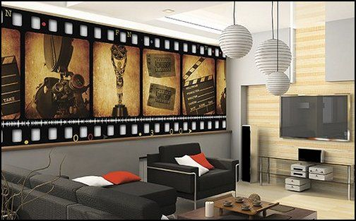 Movie themed bedrooms home theater design ideas for Living room 0325 hollywood
