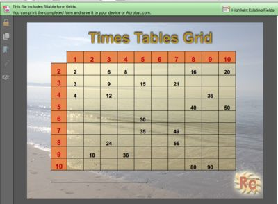 Multiplication Grid & Worksheets (various formats) from Resources & Courses on TeachersNotebook.com (10 pages)