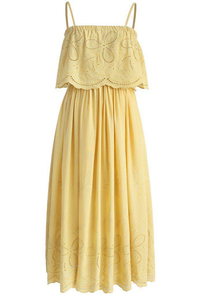 Tickle Me Picnic Embroidery Cotton Maxi Dress - New Arrivals - Retro, Indie and Unique Fashion