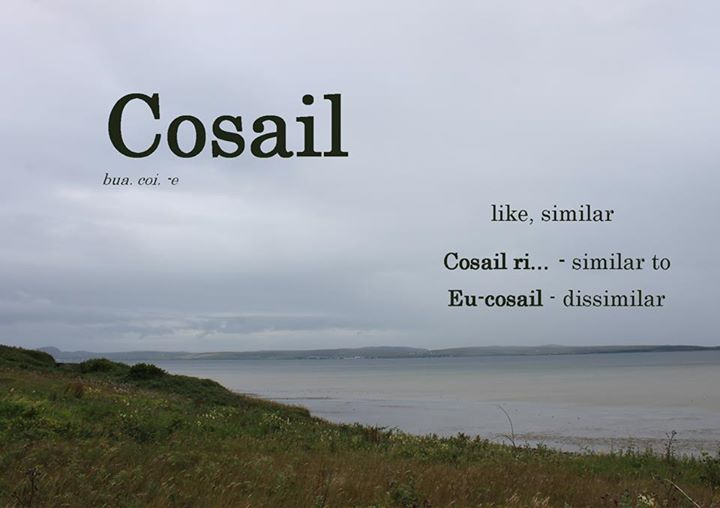 Gàidhlig Scottish Gaelic Cosail (Source: https://www.facebook.com/IonadChaluimChilleIle/photos/a.514417191936816.116749.199024770142728/1003243096387554/?type=1)