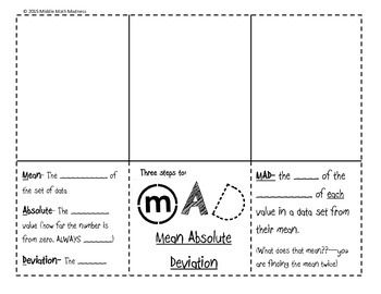 Worksheets Mean Absolute Deviation Worksheet 34 best images about mean absolute deviation on pinterest mad foldable