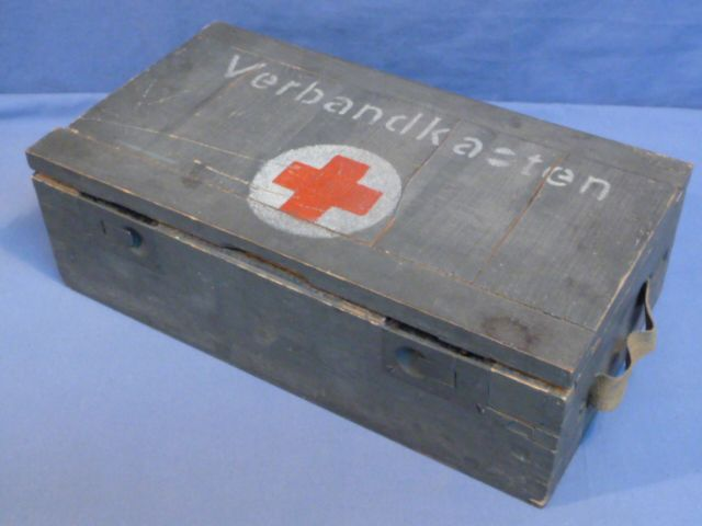Original WWII German Wooden Verbandkasten for Vehicles