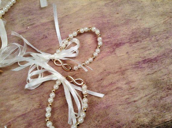 Bachelorette Bracelets 10pcs-Infinity Woman Bracelets- Wedding Bracelet- Wedding Favors-Bridesmaids Gift-Infinity Love Bracelet