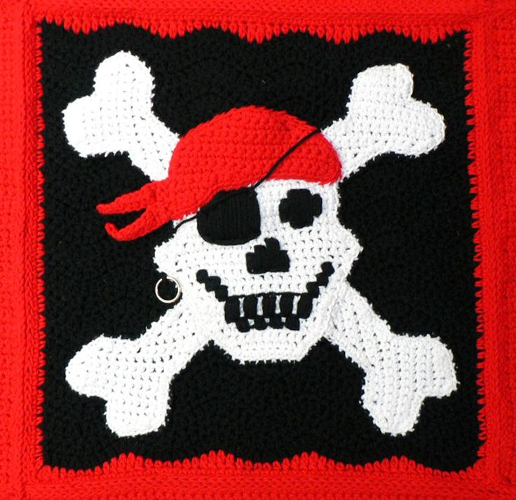 Free Crochet Pattern Pirate Throw Crochet Patterns