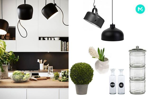 Don't forget the plants in your modern kitchen! #kitchen #lamp #modern #kitchenaccessories