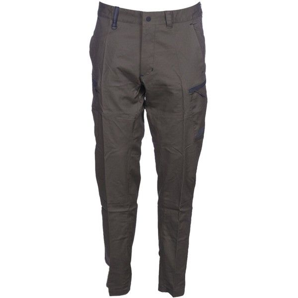 Bonded Woven Trousers ($61) ❤ liked on Polyvore featuring men's fashion, men's clothing, men's pants, men's casual pants, army, mens slim fit khaki pants, mens army fatigue pants, nike mens pants, mens khaki pants and nike men's stretch woven pants