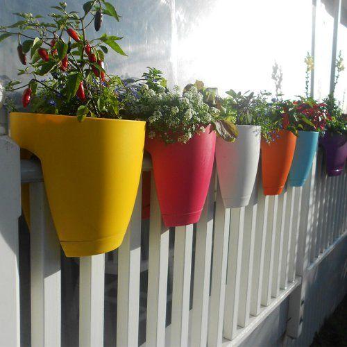 Greenbo Designer Rail and Deck Planter - Set of 2 - Planters at Hayneedle