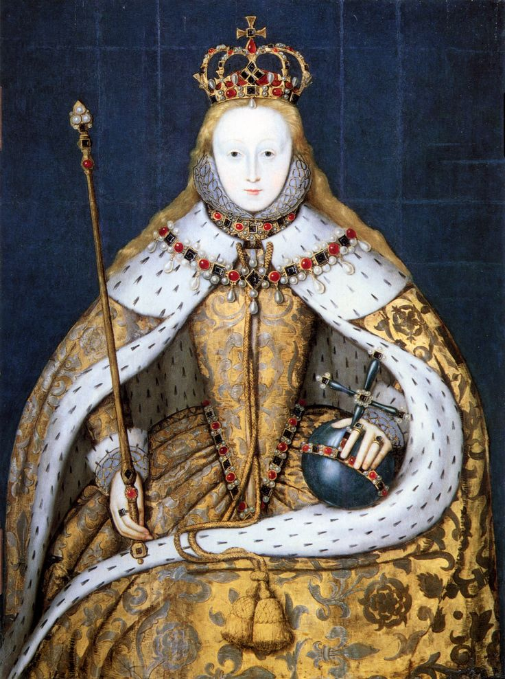 The coronation of Queen Elizabeth I of England.