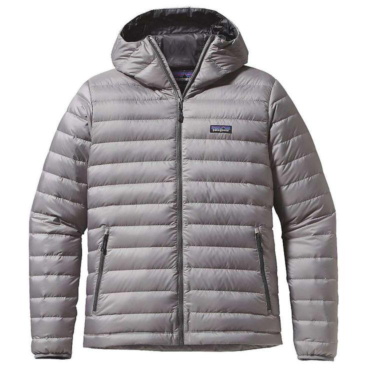 Patagonia Men's Down Sweater Hoody - XXL - Feather Grey w/ Forge Grey