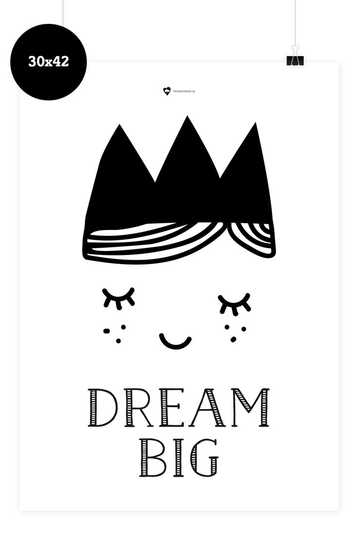 Wees geduldig wall sticker fun walls - Kinder Poster Dream Big