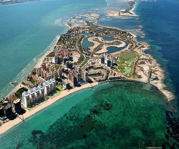 A Paradise between Two Seas. La Manga del Mar Menor, Murcia, Spain  Between Mar Menor (the minor) and Mediterranean Seas.
