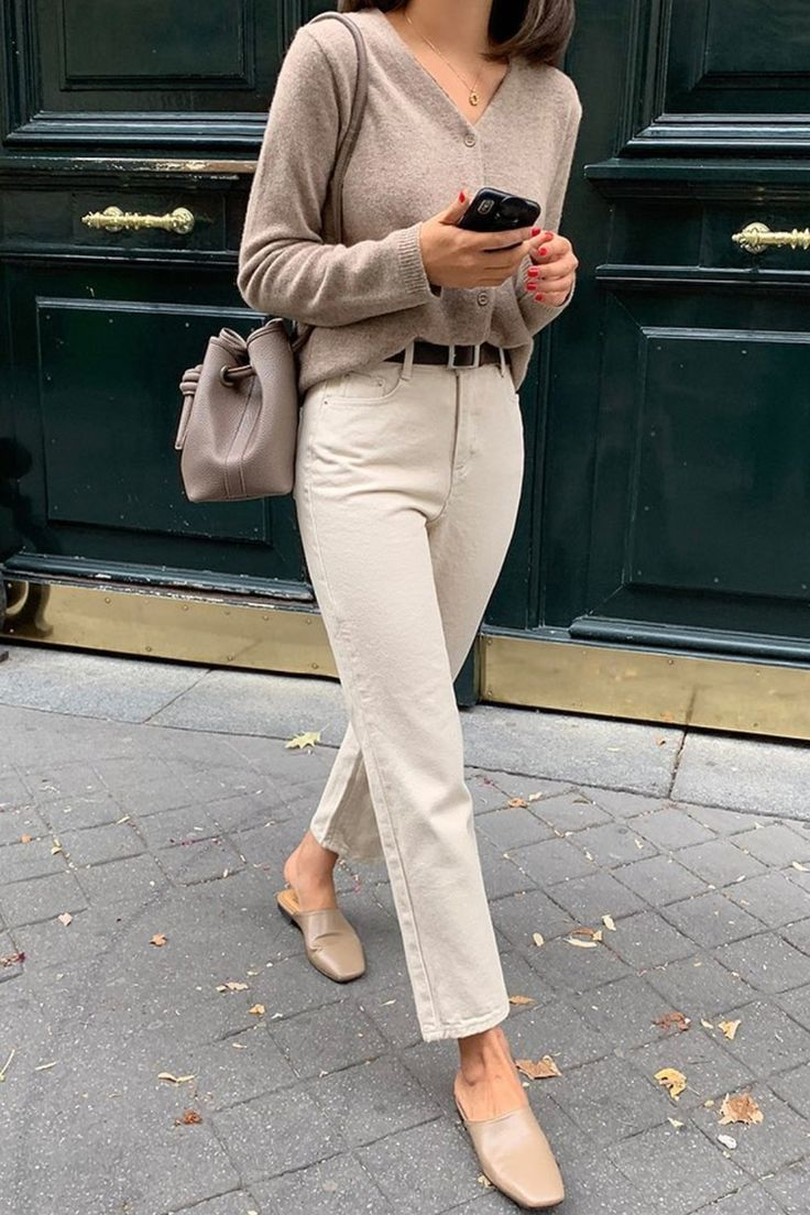 Alles beige Outfit