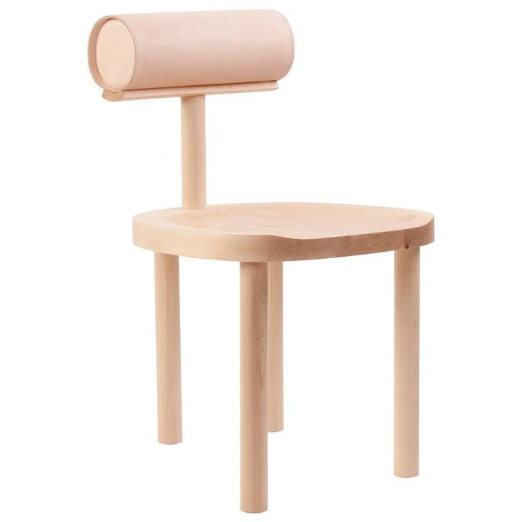 Captivating UNA Contemporary Dining Chair In Hard Maple With Leather Upholestered Back