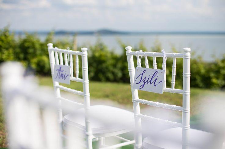 Ani&Szili wedding - bride and groom chair sign