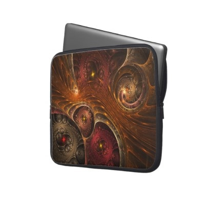 Entwined Dimensions Computer  #Sleeve #fractal #art #laptop