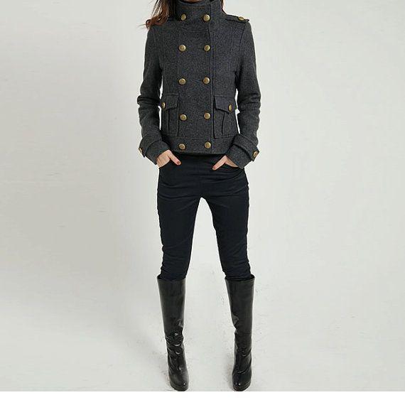 FM017 Winter coat wool coat cashmere coat gray coat grey by FM908, $98.00