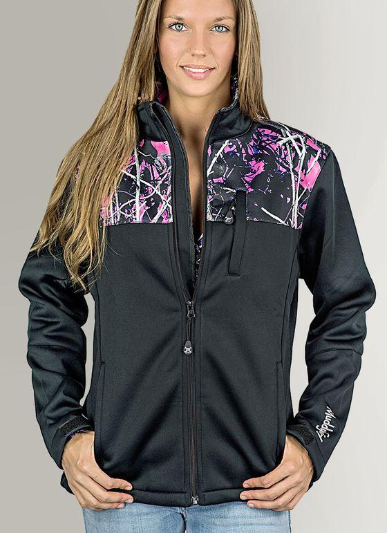 Muddy Girl Camo   Women's Pink Camouflage Soft Shell Jacket