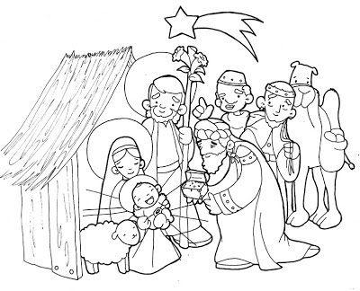Dibujos para catequesis: Navidad