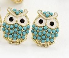 Owl Earrings multi color options by DesignsbyDazzle on Etsy