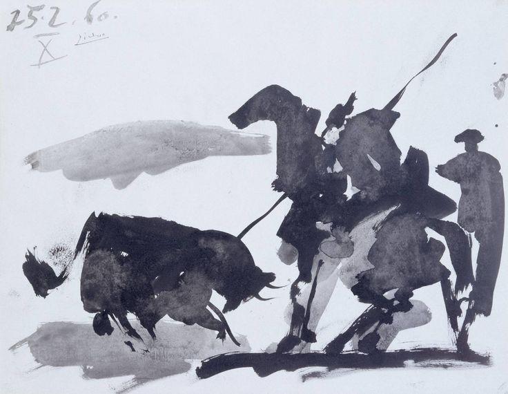 Pablo Picasso, 'Bullfight Scene' 1960