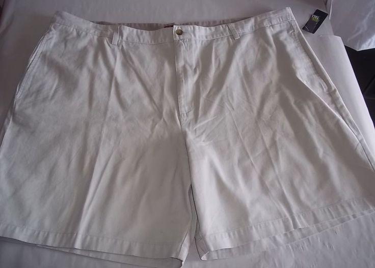 Mens Chaps Waist 50 Big & Tall Shorts NWT Flat Front 100% Cotton  #Chaps #CasualShorts