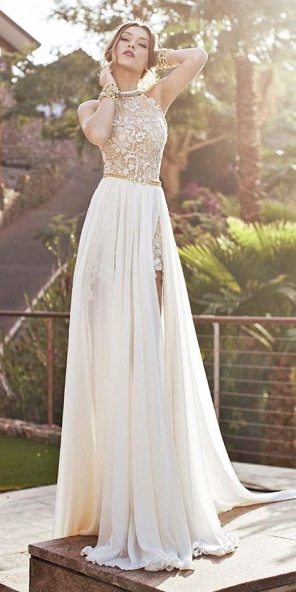 24 Beach Wedding Dresses Perfect For Destination Weddings ❤ See more: http://www.weddingforward.com/beach-wedding-dresses/ #wedding #dresses #beach