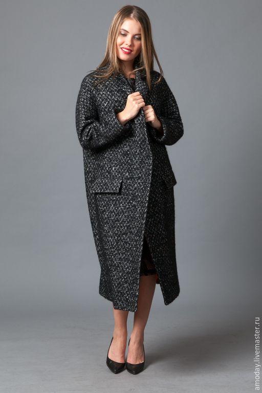 """Купить Пальто """"Бизнес леди"""". Пальто из кашемира, мохера и шерсти. - пальто оверсайз, пальто деловое"""