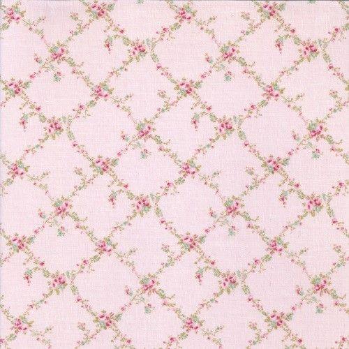 Tela japonesa de algod n rosa con un estampado de flores y for Papel pintado estampado