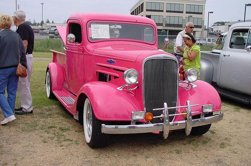 36 Pink Chevy Truck by plateguy, via Flickr