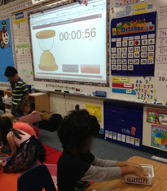 The BEST visual timers for kids. Helps them stay on task while gaining understanding of time.  My class request me to use them for our centers. (FREE)