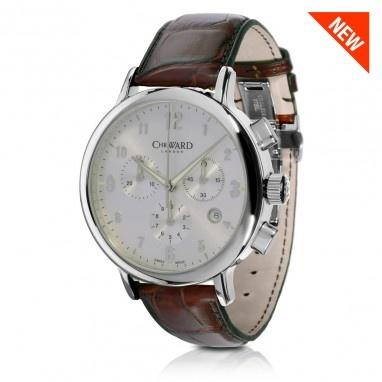 C3 Malvern Chronograph MK II Watch with Tan Leather Strap, C3SST-MK2 - Christopher Ward