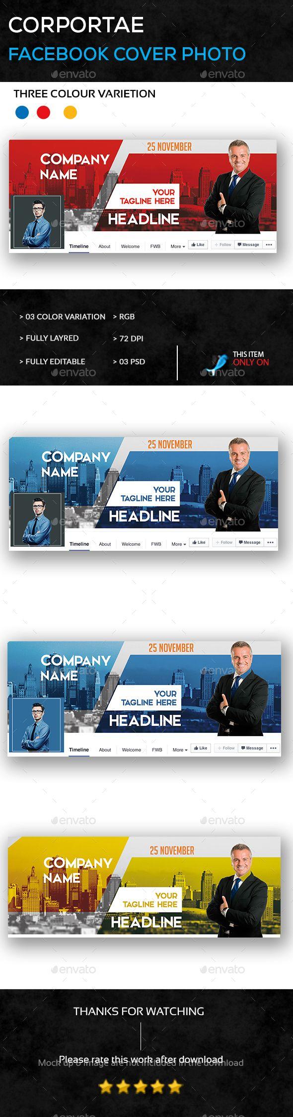 Corporate Facebook Cover Photo Template PSD