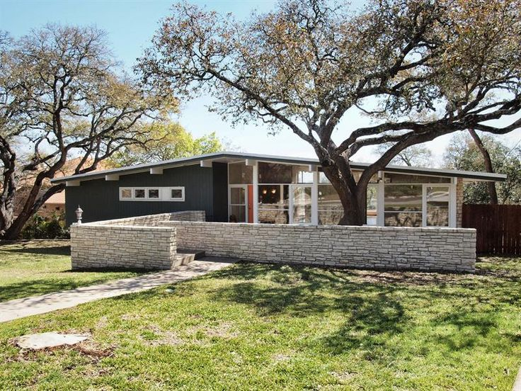 Mid century modern exteriors pinterest modern ranch Century home builders