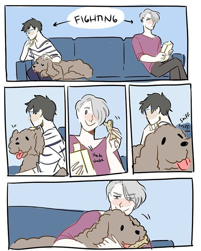 They'll get over it soon. Or Makkachin will go straight back to Yuuri.
