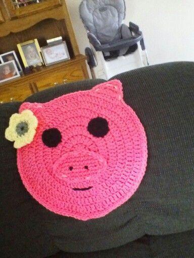 Pig potholder made for a friend of mine.