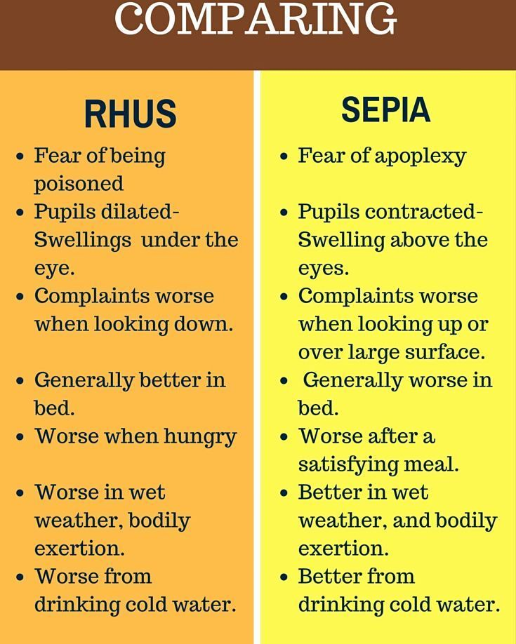 COMPARING RHUS & SEPIA | I LOVE HOMEOPATHY http://ift.tt/297Y9lm