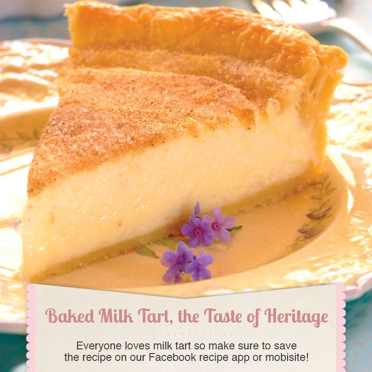 Baked milk tart #recipe