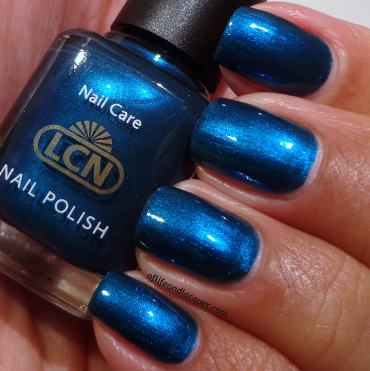 LCN nail polish in Blue Sapphire #manicure #nails