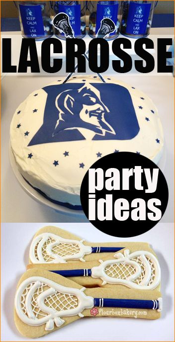 Lacrosse Party.  Great ideas for a boys party or sports team party.
