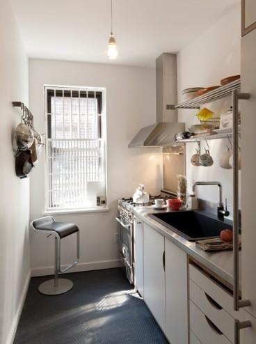 Cocinas pequeñas con mucho estilo. me agrada solo que en color café chocolate