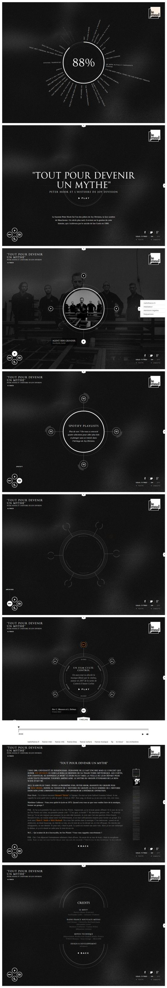 Joy Division 23 May 2013 http://www.awwwards.com/web-design-awards/joy-division #webdesign #inspiration #UI #Clean #Minimal #Typography #Fullscreen #Graphicdesign #Black
