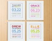 Modern Typography Birth Print. $18.00, via Etsy.