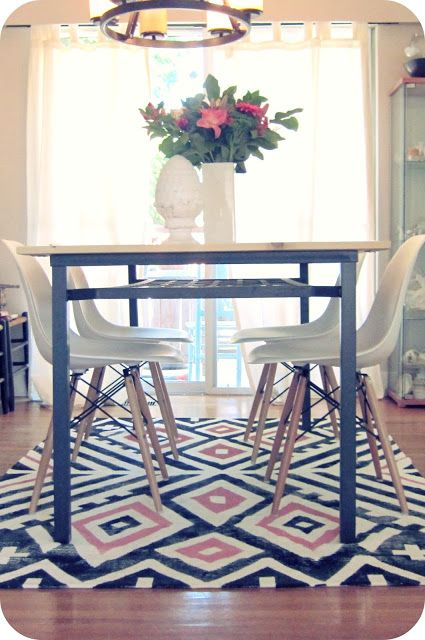My House Of Giggles Living Room Refresh A DIY Kilim Aztec Rug And