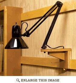 Work Shop Lamp Light Support Woodworking Plan, Shop Project Plan | WOOD Store